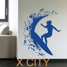 sport en chambre x surfer femme surf vagues creative sport vinyl sticker