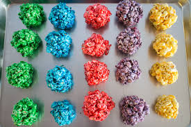 how to make rainbow popcorn balls farm
