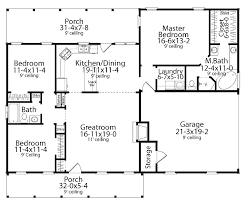 floor plans for homes one story 655885 traditional farmhouse 3 bedroom 2 bath with split floor