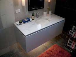 double sink vanity set with white marble top and double