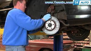 how to install repair replace front disc brakes on lincoln town