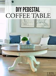 Pedestal Coffee Table Diy Pedestal Coffee Table Domestically Speaking