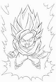 kid goku coloring pages super saiyan print coloringstar
