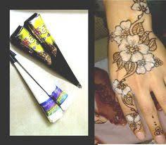 1x black henna cone temporary tattoo ink tattoo paste tattoo cone