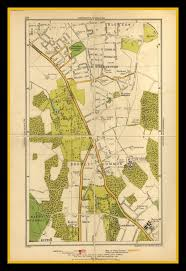 London Bus Map Old London Map Of Southborough U0026 Bromley Common Circa 1930 U0027s