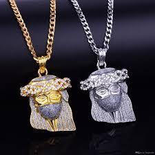 gold jesus pendant necklace images Wholesale silver gold color hip hop mask jesus pendant necklace jpg