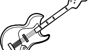large guitar coloring page guitar coloring page electric guitar coloring pages bass coloring