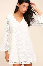 lucy love wild child white dress lace dress long sleeve