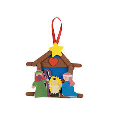 nativity craft stick religious christmas ornament craft kit