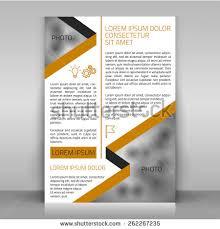 business flyer design brochure cover article stock vector