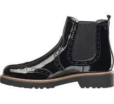 womens boots deichmann graceland black patent chelsea boots deichmann