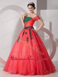 quinceanera dresses coral coral princess the shoulder appliques quince dresses 188 57
