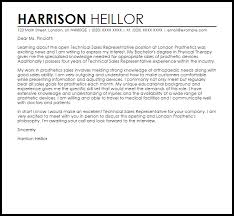 cover letter for a sales position technical sales representative cover letter sample livecareer