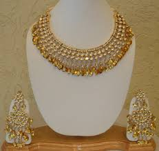 gold sets design designer gold necklace set in nr obc bank patiala