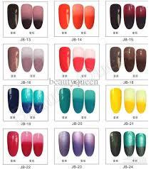 perfect match colors changing gel color chameleon nail gel polish soak off uv led gel