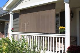 Patio Roll Down Shades Outdoor Porch Blinds
