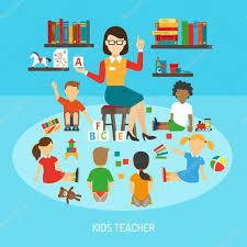 poster pour enfant enseignant affiche u2014 image vectorielle 105827058