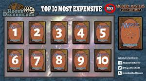 top 10 most expensive cards not in modern masters 2017