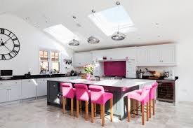 Lights For Island Kitchen by Contemporary Kitchen Extension Large Island Breakfast Bar