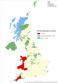 Great Britain World Map by Assisted Areas Map 2014 To 2020 Stage 2 Gov Uk