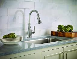 one touch kitchen faucet moen brantford motionsense touchless one handle high arc pulldown