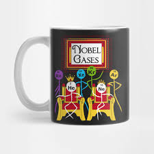 Periodic Table Mug Funny Noble Gases T Shirt Science Puns Periodic Table Geek Noble