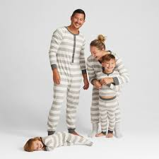rugby striped family pajamas matching family christmas
