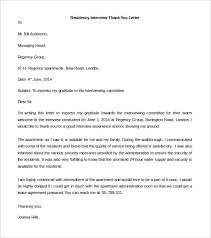 sample thank you interview letter thank you interview letters