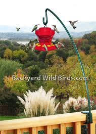 deck bird feeder pole wide clamp