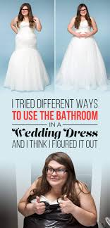 in wedding dress here s the best way to in your wedding dress without ruining