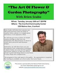 the art of flower and garden photography u201d presentation with