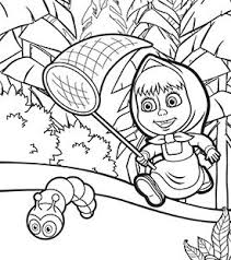 masha bear colouring cartoonito uk