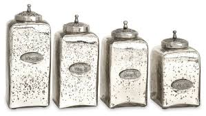glass kitchen canisters 4 set numbered mercury glass jars with lids traditional