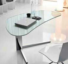 Modern Glass Top Desk Glass Top Computer Desk Shapes New Furniture