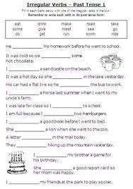 irregular past tense verbs worksheet free worksheets library
