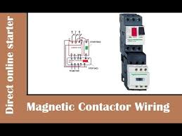 how to wire magnetic contactor overload relay dol stater