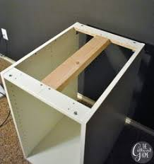 How To Build A Base Cabinet by How To Make A Diy Plank Top Ikea Cabinet Desk Ikea Hack Desk