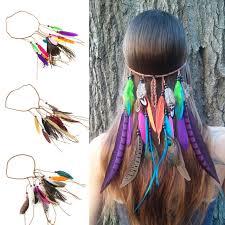 boho hair accessories fairies tell hair feathers headband for women girl boho hair