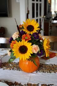 pumpkin flower arrangement thanksgiving centrepiece