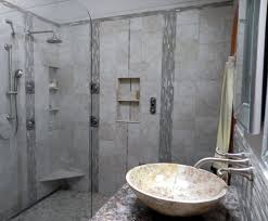 Small Elegant Bathrooms Building A Walk In Shower Small Rug On The Brown Wood Laminate