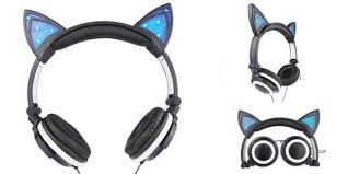 light up cat headphones buy jamsonic dj style light up cat ear headphones online at ikoala