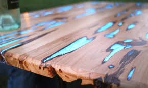 Coffee Tables Made From Trees How To Make A Stunning Wooden Table With Glow In The Resin