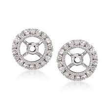 diamond earring jackets ross simons 25 ct t w diamond earring jackets in 14kt white