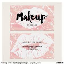 makeup artist lips typography pink marble business card pink marble