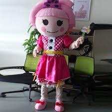 lalaloopsy costumes ohlees actual real picture pink lalaloopsy doll mascot