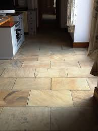 sandstone kitchen floor cleaned cleaning and