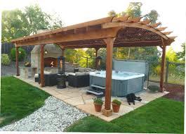 outdoor gazebo with fireplace kits backyard design ideas 5111