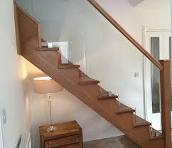 case study a new open tread glass u0026 oak staircase in dorset