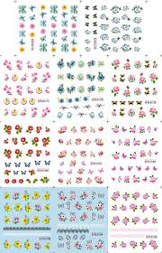 wholesale sell nail accessories ble water decal with 5 models