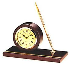 Desk Pen Holder Seiko Executive Desk Clock With Pen